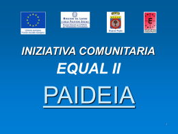 procedura - Progetto Equal Sole