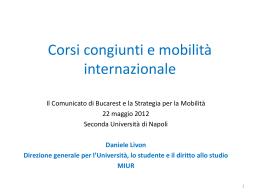 Corsi congiunti e mobilità internazionale