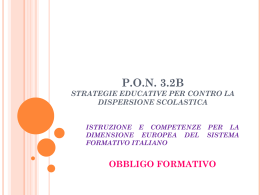 pon 3.2b strategie educative per contro la