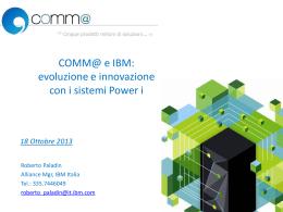 COMM@ e IBM: evoluzione e innovazione con i sistemi