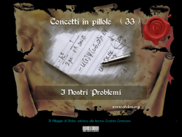 n. 33 - I NOSTRI PROBLEMI