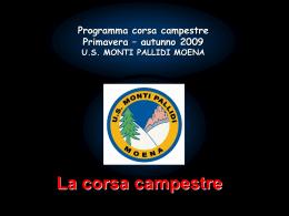 Presentazione settore corsa campestre 2009