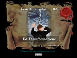 n. 43 - LA DISINFORMAZIONE