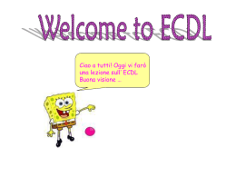 Welcome to ECDL