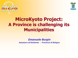 MicroKyoto Project: A province is challenging its municipalities