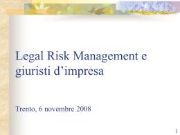 Slides: Il giurista d`impresa