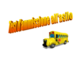 Test di ammissione all´asilo