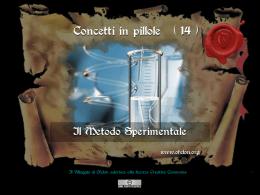 n. 14 - IL METODO SPERIMENTALE