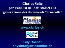 Fonti di dati - clarius suite