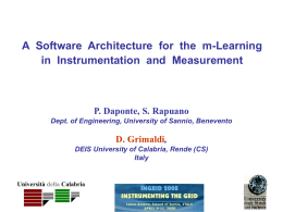 a software architecture for the m-learning in instrumentation and