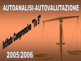 autovalutazione d`istituto - a.s. 2005/2006