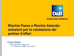Presentazione Country Risk
