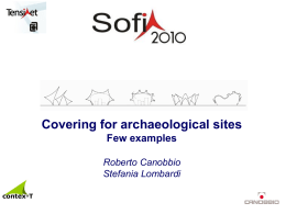 Covering for archaeological sites