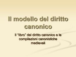 Diritto canonico - Sezione di Storia del diritto medievale e moderno