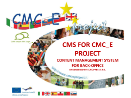 cms for cmc_e project content management for back