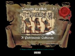 n. 5 – IL PATRIMONIO CULTURALE
