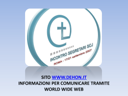 2. Sito della Congregazione: www.dehon.it