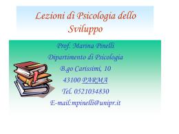 Lezioni di psicologia dello sviluppo