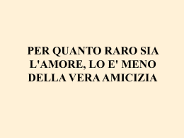l`amicizia - francoperrone.it