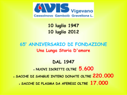 "Dal From 1947 to 2012 : 65 years life of ""Avis Vigevano"" in few images"