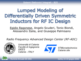Lumped modeling of differentially driven symmetric inductors for RF