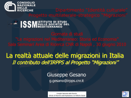 Gesano - Istituto di Studi sulle Società del Mediterraneo