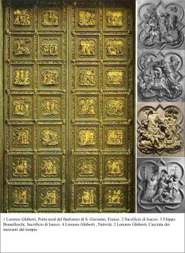 1 Lorenzo Ghiberti, Porta nord del Battistero di S