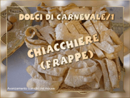 Chiacchiere tutorial.