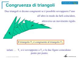 criteri di congruenza dei triangoli 2d e 1d