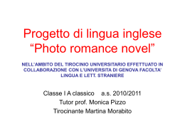 "Progetto di lingua inglese ""Photo romance novel"