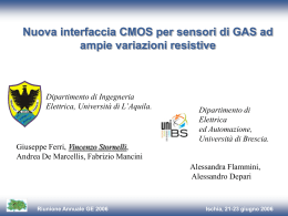 Nuova interfaccia CMOS integrata per sensori di GAS ad