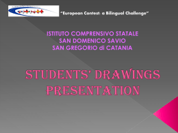 Students` drawings presentation - European contest: a bilingual