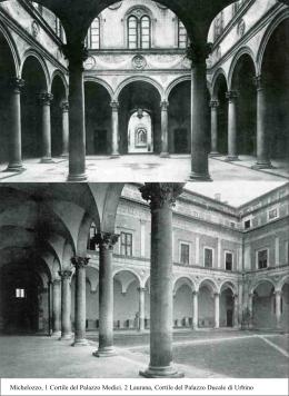 Michelozzo, 1 Cortile del Palazzo Medici. 2