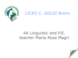 LICEO C. GOLGI Breno