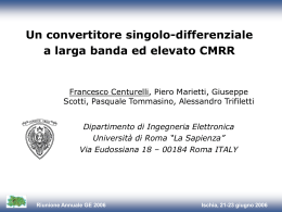 Un convertitore singolo-differenziale a larga banda ad