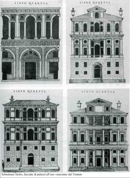 Sebastiano Serlio, facciate di palazzi all`uso veneziano dal Trattato
