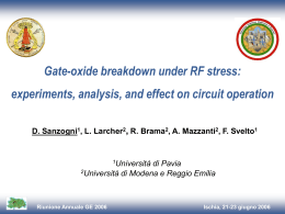 Gate-oxide breakdown under RF stress