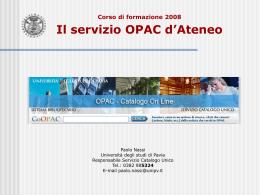 Corso OPAC 2008