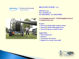 BRUGG PIPE SYSTEMS Srl