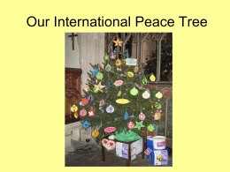 Our International Peace Tree