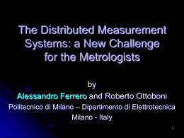 The Distributed Measurement Systems