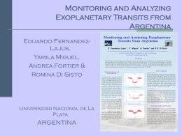 Monitoring and Analysing Exoplanetary Transits from Argentina
