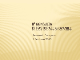 Power Point - Pastorale Giovanile
