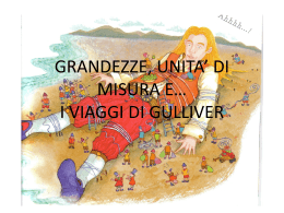 GRANDEZZE, UNITA* DI MISURA E* I VIAGGI DI - Sassetti
