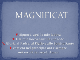 Risonanze al Magnificat con diapositive