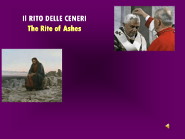 Il RITO DELLE CENERI The Rite of Ashes