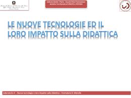 laboratorio 4 – nuove tecnologie e loro impatto sulla didattica