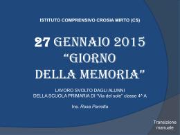 """27 gennaio 2015 """"giorno della memoria"""""""