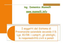 presentazione tipo - CORSO ASPP mod. A CROB Basilicata