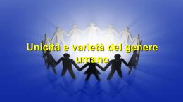 Unicità e varietà del genere umano